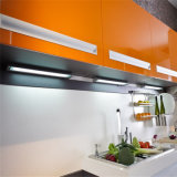 [ن] & [ل] أبيض لامعة مع بعض برتقاليّ مطبخ خزانة