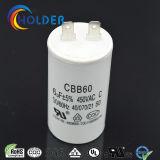 Película de Polipropileno metalizado motor de CA del condensador (CBB60 605/450)