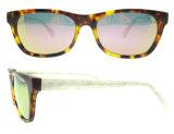 2016 gafas de sol de encargo de la insignia de la manera de las gafas de sol al por mayor del acetato con Ce y el FDA