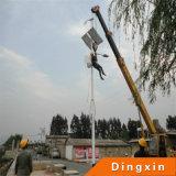 15m Solar-LED Straßenlaterne mit 120W LED Lampe und Batterie auf die Oberseite