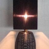 Lampada nera decorativa del tavolino da notte dello schermo del tessuto del Organza dell'hotel