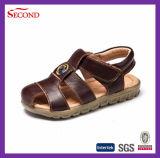 Bocca del coccodrillo dei sandali di estate del cuoio genuino dei bambini