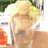 Chá novo Infuser do buldogue de Infuser do chá do silicone de Pekingese do projeto 2016