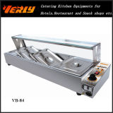Heißes Sale Commercial Food Warmer, Electric Bain Marie mit 3 Basins, Flat Glass Top Cover CER Approved (VB-83)