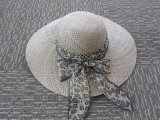 Sombrero tropical de la paja del sombrero de las señoras de la manera para el verano