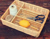다기능 Bamboo 및 Grey Color Wicker Basket, Storage.를 위한 Good