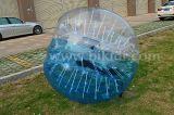 016半分カラー安い泡サッカーTPUの球、膨脹可能で豊富な人間の大きさで分類されたサッカーの泡球