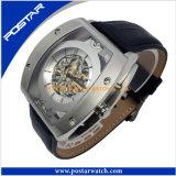 Neue Geschäfts-Art-echtes Leder Mechancial&Automatic Uhr