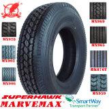 Superhawk und Marvemax (12R22.5 11R22.5 295/80R22.5) Radial-LKW-Gummireifen