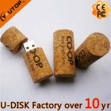 Lecteur flash USB en bois de liège de vin rouge (YT-8130L)