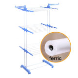 3 Tier Blue Color Foldable Laundry Drying Rack Baby Hanger Jp-Cr300W