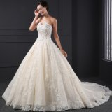 High Quality A-Line Tulle Lace Appliques Wedding Dress (SL025)
