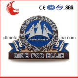 Desenhos animados relativos à promoção com emblema olímpico da tecla do estanho do Pin de segurança