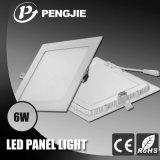 Venta caliente 6W Panel Panel de luz LED con el CE RoHS ( pj4025 )