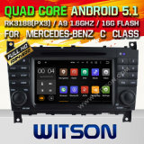 Carro DVD GPS do Android 5.1 de Witson para a classe W203 de Mercedes-Benz C (2004-2007) com sustentação do Internet DVR da ROM WiFi 3G do chipset 1080P 16g (A5517)