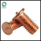 Messing überzogene Stahlpunktschweissen-Schraube, Schweißungs-Schraube