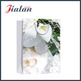 Glatter lamellierter Ivory Papier-Hochzeits-Ring-Einkaufen-Geschenk-Papierbeutel