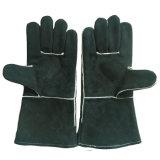 Черные перчатки BBQ сваривая кожаный перчатки для Welders