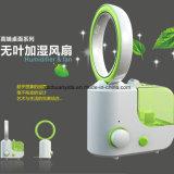 Ventilador Bladeless do humidificador ultra-sônico do escritório do fabricante da névoa do condicionador de ar da mesa