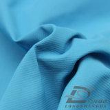 agua de 50d 400t y de la ropa de deportes tela tejida chaqueta al aire libre Viento-Resistente 100% de la pongis del poliester del telar jacquar de la tela cruzada de la perla abajo (53180)