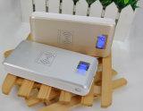 12000mAh移動式チーの無線充電器USB外部電池携帯用力バンク