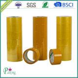 Желтая лента упаковки BOPP слипчивая - P010