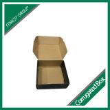 창조적인 디자인 검정 원색판화 주름을 잡은 우송 상자
