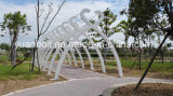 Design novo de Steel Structure Outdoor Modeling Galvanized Material