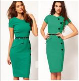 Vestido de Bodycon das mulheres do escritório da forma do OEM 2015 da roupa da fábrica