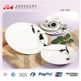 Vaisselle chaude d'étiquette de porcelaine de vente (JSDP-008)