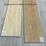 Plancher en bois de vinyle de PVC de feuille d'étage de tapis de pierre élégante de configuration