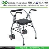 알루미늄 라이트급 선수 신체 장애자를 위한 조정가능한 접히는 Rollator 보행자 걷는 원조