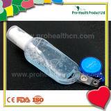 De lege fles van het handdesinfecterende middel met intrekbare houdersspoel (pH009-067B)