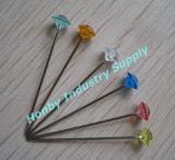 38mm 다채로운 Clear&Plastic 다이아몬드 헤드 결혼식 핀