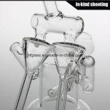 Reciclador Vidro Fumando Tubos de água Limpa Tubo Oil Rigs Glass Factory Preço Bubbler Shisha Hookah