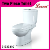 Le lavage à grande eau en céramique de salle de toilette de qualité P-Enferment le cabinet d'aisance 2PC vidant simple