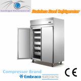 4 refrigerador ereto comercial do armazenamento da cozinha da porta S/S