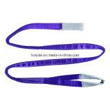 Imbracatura di sollevamento tessuta sintetica delle imbracature della tessitura del poliestere/imbracatura di sollevamento