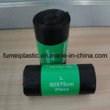 De gerecycleerde Zwarte Plastic Vuilniszak van de Kleur