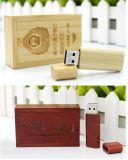 tasto di legno del USB di 16GB 32GB con la casella