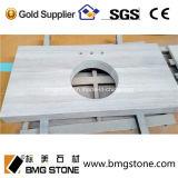 Dessus de marbre blancs chinois de partie supérieure du comptoir et de vanité de Serpeggiante