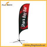 Bandeira feita sob encomenda ao ar livre da lâmina/bandeira pena do vento