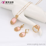 Xuping Newest 18k Gold Plated Luxury Crystal Jewelry는 놓았다 63410
