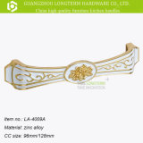 Maniglia modellata Ivory classica del cassetto di Zamak di disegno