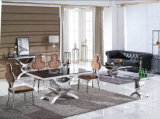Tabela de jantar Home do vidro Tempered de projeto moderno da mobília