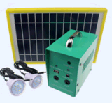 con Solar Panel e LED Lights 20W Small Soalr System
