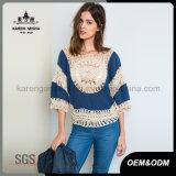 Пуловер Crocheted картины девушок способа шифоновый
