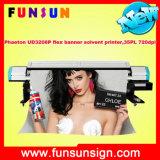 Uitstekende kwaliteit 510 35pl Heads Phaeton Ud3208p Solvent Printer met 10FT Printing Size (kleuren 720dpi, CMYK 4, flex banner, printmon)