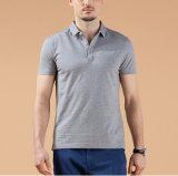 Chemise de polo de chemise de circuit de couleur solide pour les hommes