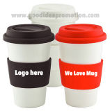 Silicone Lidの高品質Popular Design Ceramic Coffee Mug